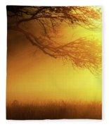 Golden Rays Fleece Blanket