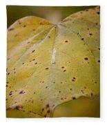 Golden Redbud Heart Fleece Blanket