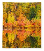 Golden Reflection Fleece Blanket