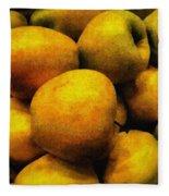 Golden Renaissance Apples Fleece Blanket