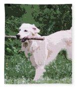 Golden Retreiver Fleece Blanket