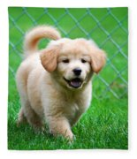Golden Retriever Puppy Fleece Blanket