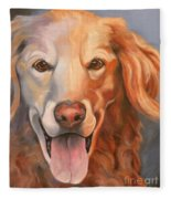 Golden Retriever Till There Was You Fleece Blanket