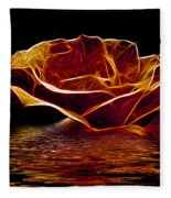Golden Rose Fleece Blanket