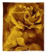 Golden Yellow Roses Fleece Blanket