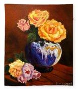 Golden Roses Jenny Lee Discount Fleece Blanket