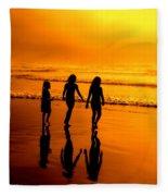 Golden Sands  Fleece Blanket