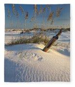 Golden Sea Oats Fleece Blanket