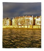 Golden Seine Fleece Blanket