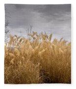 Golden Shades Of Winter Fleece Blanket