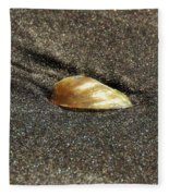 Golden Shell Fleece Blanket