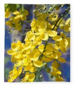 Golden Shower Tree - Cassia Fistula - Kula Maui Hawaii Fleece Blanket