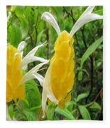 Golden Shrimp Plant Or Lollipop Plant Fleece Blanket