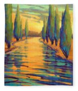 Golden Silence 3 Fleece Blanket