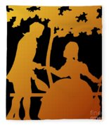 Golden Silhouette Garden Proposal Will You Marry Me Fleece Blanket