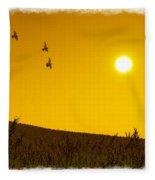 Golden Sky... Fleece Blanket