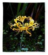 Golden Spider Lily Fleece Blanket