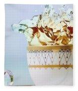 Golden Splash Fleece Blanket