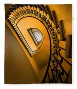 Golden Staircase Fleece Blanket