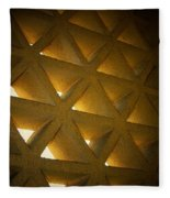 Golden Stonework  Fleece Blanket