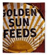 Golden Sun Feeds Fleece Blanket