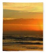 Golden Sun Up Fleece Blanket