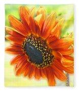 Golden Sunflower Fleece Blanket