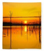 Golden Sunrise Iv Fleece Blanket