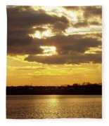 Golden Sunset Fleece Blanket