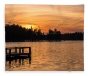 Golden Sunset Lake Horicon Lakehurst Nj Fleece Blanket