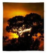 Golden Sunset... Fleece Blanket