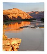 Golden Sunset On The Colorado Fleece Blanket