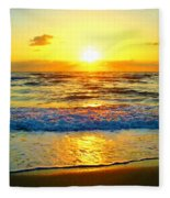 Golden Surprise Sunrise Fleece Blanket