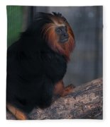 Golden Tamarin Fleece Blanket