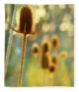 Golden Teasels Fleece Blanket