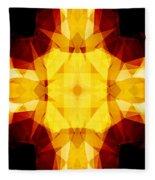 Golden Textured Triangles Fleece Blanket