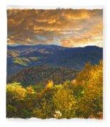 Golden Tipped Smokey's  Fleece Blanket