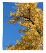 Golden Tree Fleece Blanket
