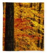Golden Trees Glowing Fleece Blanket