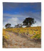 Golden Vines Fleece Blanket
