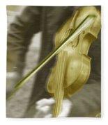 Golden Violin Fleece Blanket
