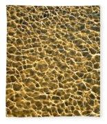 Golden Water Fleece Blanket