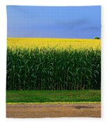 Golden Waves Of Grain Fleece Blanket