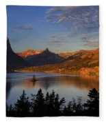 Golden Wild Goose Island Fleece Blanket