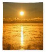 Golden Winter Fleece Blanket