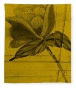 Golden Wood Flower Fleece Blanket