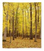 Golden Woods Fleece Blanket