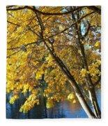 Golden Zen Fleece Blanket