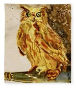 Goldene Bier Eule Fleece Blanket
