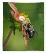 Goldenrod Spider Fleece Blanket